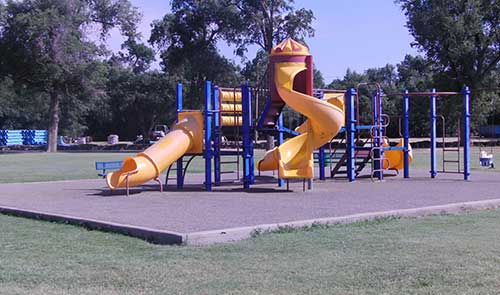 Playground-equipment-in-South-(Pioneer-)-park-CAROUSEL