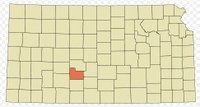 Edwards County in relation to the state of Kansas