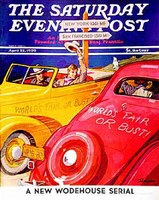 Saturday Evening Post cover with Midway USA sign