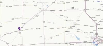 Yahoo Map of Kinsley Kansas