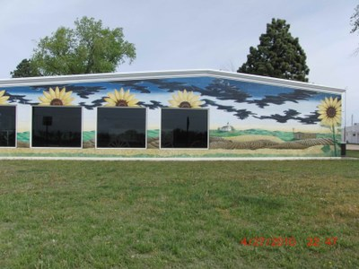 Edwards County Historical Society Sod House Museum Mural