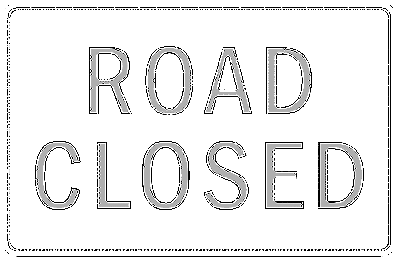 normal us street sign road closed