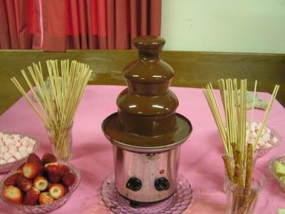 Chocolate Fountain at Chocolate Affair