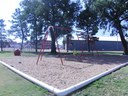 New swings at Baugher Park action shot