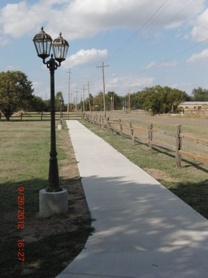 New Walking Trail in South (Pioneer) Park constructed in summer of 2012