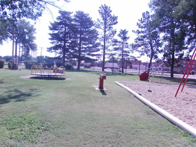 Playground equipment at Baugher Park
