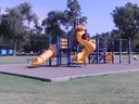 Playground equipment in South (Pioneer ) park